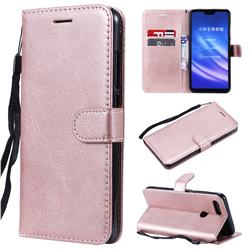 Retro Greek Classic Smooth PU Leather Wallet Phone Case for Xiaomi Mi 8 Lite / Mi 8 Youth / Mi 8X - Rose Gold