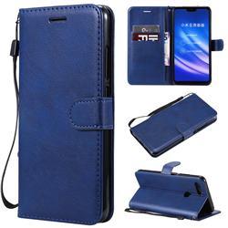 Retro Greek Classic Smooth PU Leather Wallet Phone Case for Xiaomi Mi 8 Lite / Mi 8 Youth / Mi 8X - Blue