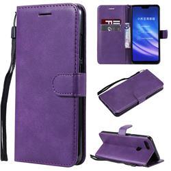 Retro Greek Classic Smooth PU Leather Wallet Phone Case for Xiaomi Mi 8 Lite / Mi 8 Youth / Mi 8X - Purple