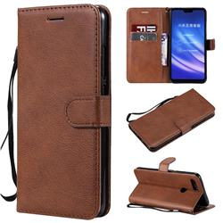 Retro Greek Classic Smooth PU Leather Wallet Phone Case for Xiaomi Mi 8 Lite / Mi 8 Youth / Mi 8X - Brown