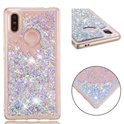 Dynamic Liquid Glitter Quicksand Sequins TPU Phone Case for Xiaomi Mi 8 SE - Silver