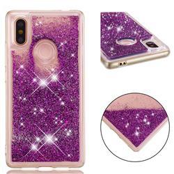 Dynamic Liquid Glitter Quicksand Sequins TPU Phone Case for Xiaomi Mi 8 SE - Purple