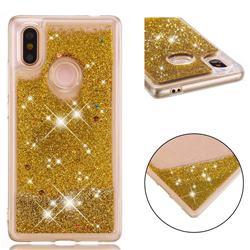 Dynamic Liquid Glitter Quicksand Sequins TPU Phone Case for Xiaomi Mi 8 SE - Golden