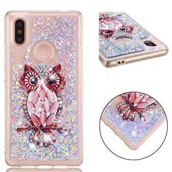 Seashell Owl Dynamic Liquid Glitter Quicksand Soft TPU Case for Xiaomi Mi 8 SE