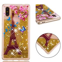 Golden Tower Dynamic Liquid Glitter Quicksand Soft TPU Case for Xiaomi Mi 8 SE
