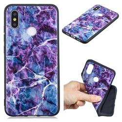 Marble 3D Embossed Relief Black TPU Cell Phone Back Cover for Xiaomi Mi 8 SE