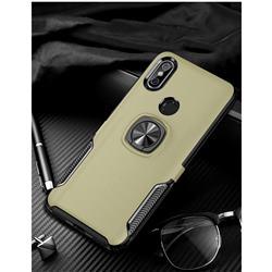 Knight Armor Anti Drop PC + Silicone Invisible Ring Holder Phone Cover for Xiaomi Mi 8 SE - Champagne