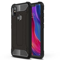 King Kong Armor Premium Shockproof Dual Layer Rugged Hard Cover for Xiaomi Mi 8 SE - Black Gold