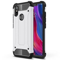King Kong Armor Premium Shockproof Dual Layer Rugged Hard Cover for Xiaomi Mi 8 SE - White