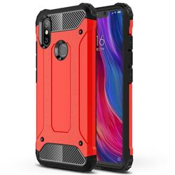 King Kong Armor Premium Shockproof Dual Layer Rugged Hard Cover for Xiaomi Mi 8 SE - Big Red