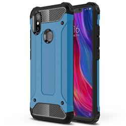 King Kong Armor Premium Shockproof Dual Layer Rugged Hard Cover for Xiaomi Mi 8 SE - Sky Blue
