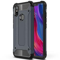King Kong Armor Premium Shockproof Dual Layer Rugged Hard Cover for Xiaomi Mi 8 SE - Navy