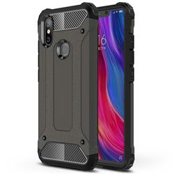 King Kong Armor Premium Shockproof Dual Layer Rugged Hard Cover for Xiaomi Mi 8 SE - Bronze