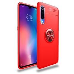 Auto Focus Invisible Ring Holder Soft Phone Case for Xiaomi Mi 9 - Red