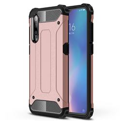 King Kong Armor Premium Shockproof Dual Layer Rugged Hard Cover for Xiaomi Mi 9 - Rose Gold