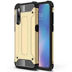 King Kong Armor Premium Shockproof Dual Layer Rugged Hard Cover for Xiaomi Mi 9 - Champagne Gold