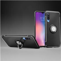 Armor Anti Drop Carbon PC + Silicon Invisible Ring Holder Phone Case for Xiaomi Mi 9 - Black