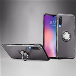 Armor Anti Drop Carbon PC + Silicon Invisible Ring Holder Phone Case for Xiaomi Mi 9 - Grey