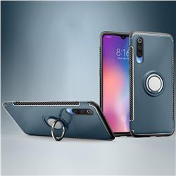 Armor Anti Drop Carbon PC + Silicon Invisible Ring Holder Phone Case for Xiaomi Mi 9 - Navy