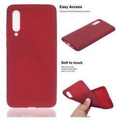 Soft Matte Silicone Phone Cover for Xiaomi Mi 9 - Wine Red