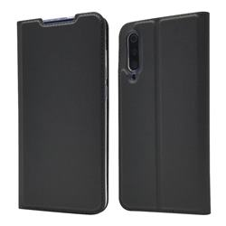 Ultra Slim Card Magnetic Automatic Suction Leather Wallet Case for Xiaomi Mi 9 - Star Grey
