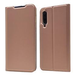 Ultra Slim Card Magnetic Automatic Suction Leather Wallet Case for Xiaomi Mi 9 - Rose Gold