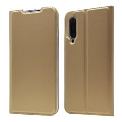 Ultra Slim Card Magnetic Automatic Suction Leather Wallet Case for Xiaomi Mi 9 - Champagne