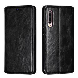 Retro Slim Magnetic Crazy Horse PU Leather Wallet Case for Xiaomi Mi 9 - Black
