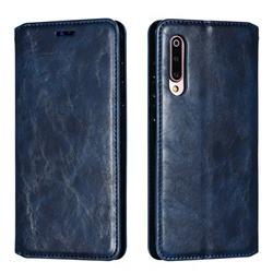 Retro Slim Magnetic Crazy Horse PU Leather Wallet Case for Xiaomi Mi 9 - Blue