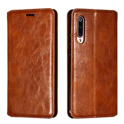 Retro Slim Magnetic Crazy Horse PU Leather Wallet Case for Xiaomi Mi 9 - Brown