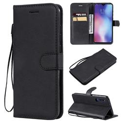 Retro Greek Classic Smooth PU Leather Wallet Phone Case for Xiaomi Mi 9 - Black