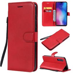 Retro Greek Classic Smooth PU Leather Wallet Phone Case for Xiaomi Mi 9 - Red