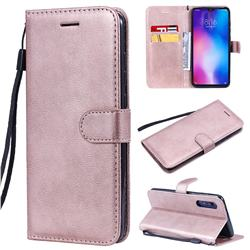 Retro Greek Classic Smooth PU Leather Wallet Phone Case for Xiaomi Mi 9 - Rose Gold