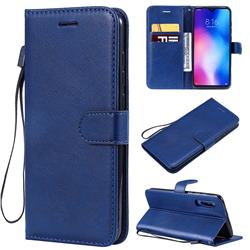 Retro Greek Classic Smooth PU Leather Wallet Phone Case for Xiaomi Mi 9 - Blue