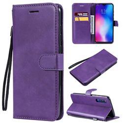 Retro Greek Classic Smooth PU Leather Wallet Phone Case for Xiaomi Mi 9 - Purple