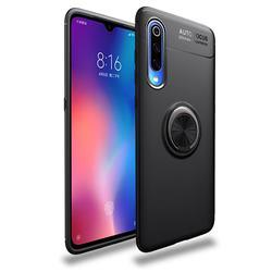 Auto Focus Invisible Ring Holder Soft Phone Case for Xiaomi Mi 9 Pro - Black