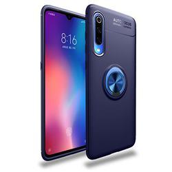 Auto Focus Invisible Ring Holder Soft Phone Case for Xiaomi Mi 9 Pro - Blue