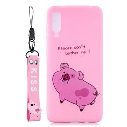 Pink Cute Pig Soft Kiss Candy Hand Strap Silicone Case for Xiaomi Mi 9 Pro