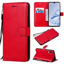 Retro Greek Classic Smooth PU Leather Wallet Phone Case for Xiaomi Mi 9 Pro 5G - Red