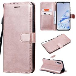 Retro Greek Classic Smooth PU Leather Wallet Phone Case for Xiaomi Mi 9 Pro 5G - Rose Gold