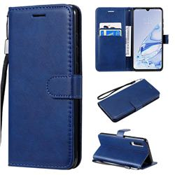 Retro Greek Classic Smooth PU Leather Wallet Phone Case for Xiaomi Mi 9 Pro 5G - Blue