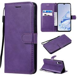 Retro Greek Classic Smooth PU Leather Wallet Phone Case for Xiaomi Mi 9 Pro 5G - Purple