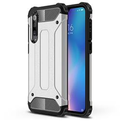 King Kong Armor Premium Shockproof Dual Layer Rugged Hard Cover for Xiaomi Mi 9 SE - White