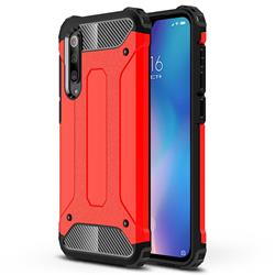 King Kong Armor Premium Shockproof Dual Layer Rugged Hard Cover for Xiaomi Mi 9 SE - Big Red