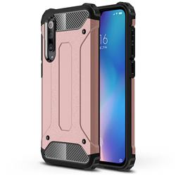 King Kong Armor Premium Shockproof Dual Layer Rugged Hard Cover for Xiaomi Mi 9 SE - Rose Gold