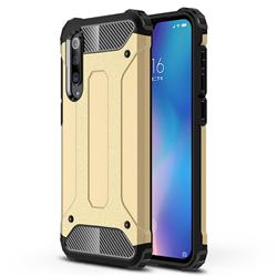 King Kong Armor Premium Shockproof Dual Layer Rugged Hard Cover for Xiaomi Mi 9 SE - Champagne Gold