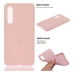 Soft Matte Silicone Phone Cover for Xiaomi Mi 9 SE - Lotus Color