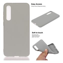 Soft Matte Silicone Phone Cover for Xiaomi Mi 9 SE - Gray