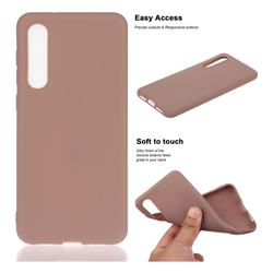 Soft Matte Silicone Phone Cover for Xiaomi Mi 9 SE - Khaki