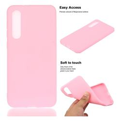 Soft Matte Silicone Phone Cover for Xiaomi Mi 9 SE - Rose Red